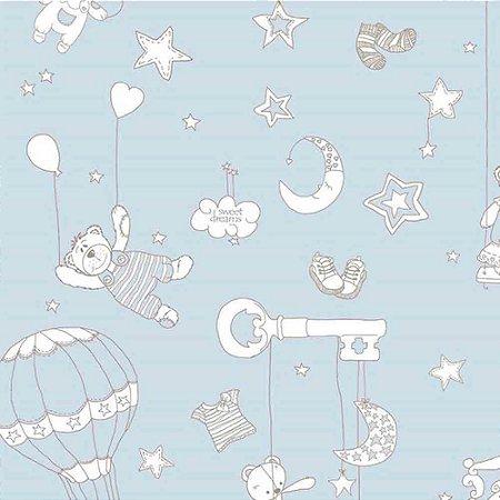 Papel de Parede Infantil Balões e Ursinhos Ola Baby 2 OL220901R