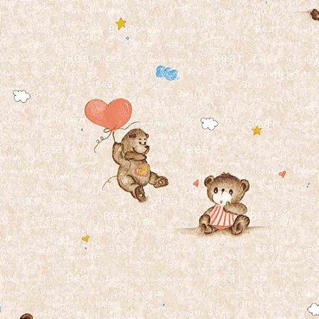 Papel de Parede Infantil Ursinhos Hello Kids HK224602R