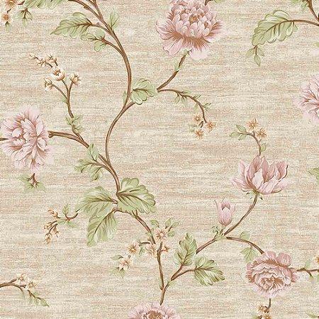 Papel de Parede Alto Relevo Floral Veneza VN7201050