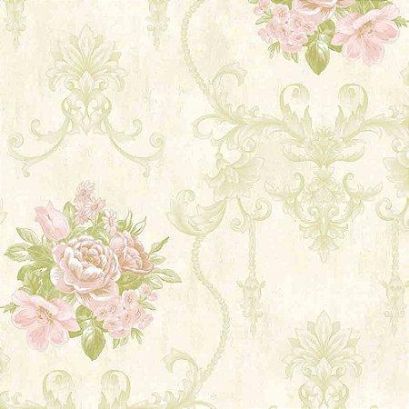 Papel de Parede Alto Relevo Floral Veneza VN7204030