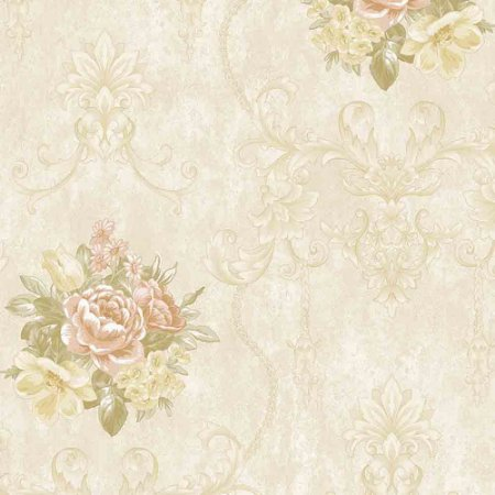 Papel de Parede Alto Relevo Floral Veneza VN7204040