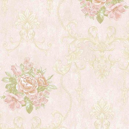 Papel de Parede Alto Relevo Floral Veneza VN7204050
