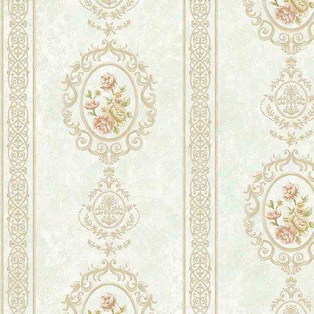 Papel de Parede Alto Relevo Floral Veneza VN7205040