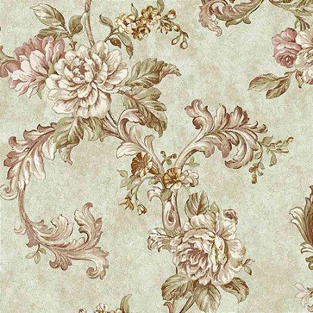 Papel de Parede Alto Relevo Floral Veneza VN7208020