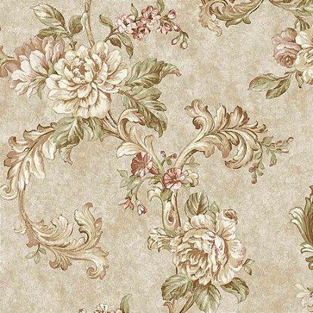 Papel de Parede Alto Relevo Floral Veneza VN7208040