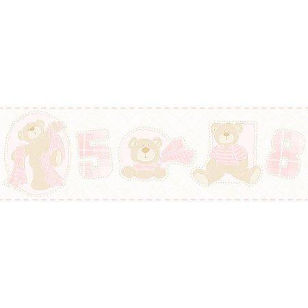 Faixa de Parede Bambinos Ursinhos Rosa 3207