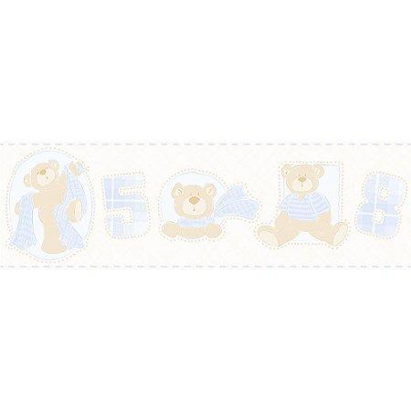 Faixa de Parede Bambinos Ursinhos Azul claro 3208