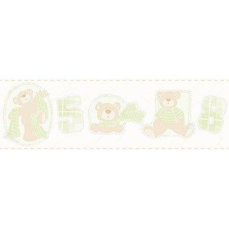 Faixa de Parede Bambinos Ursinhos Verde 3209