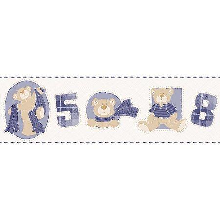 Faixa de Parede Bambinos Ursinhos Azul escuro 3211