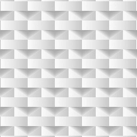 Papel de Parede Dimensões 3D Retângulo Cinza 4702