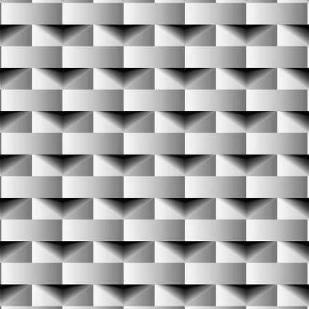 Papel de Parede Dimensões 3D Retângulo Preto 4703