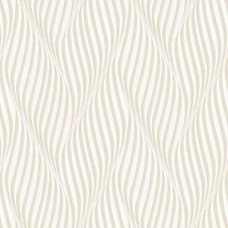 Papel de Parede Dimensões 3D Espiral Bege 4705
