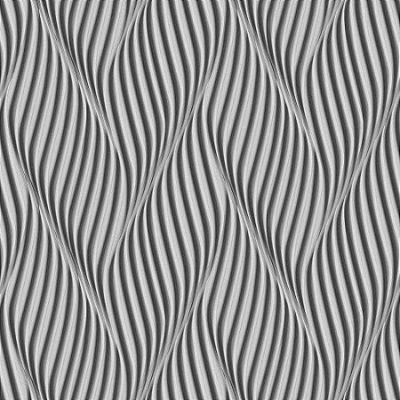 Papel de Parede Dimensões 3D Espiral Preto 4707