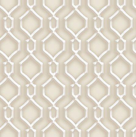 Papel de Parede Dimensões 3D Alhambra Marrom 4708