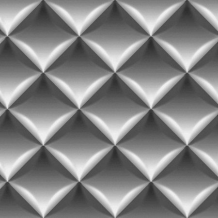 Papel de Parede Dimensões 3D Almofada Preto 4713