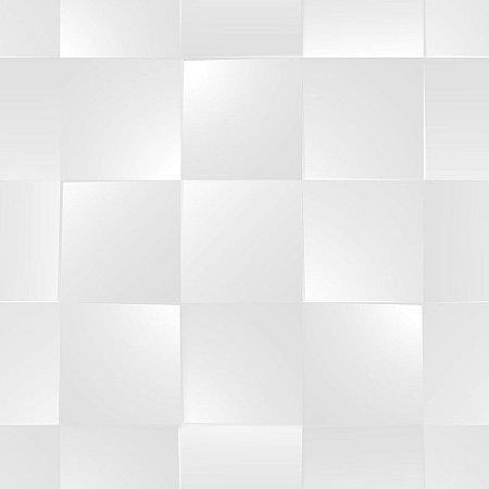 Papel de Parede Dimensões 3D Quadrado Cinza 4716