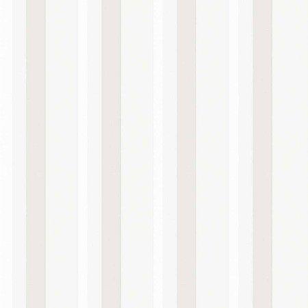 Papel de Parede Diplomata Listrado Branco, Gelo e Bege 3139
