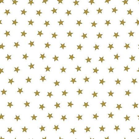 Papel de Parede Infantil Renascer Estrela pequena Dourada 6212