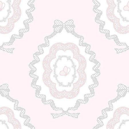 Papel de Parede Infantil Renascer Laços Charlotte 6216