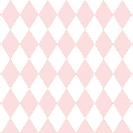 Papel de Parede Infantil Renascer Geométricos Losango Rosa 6240