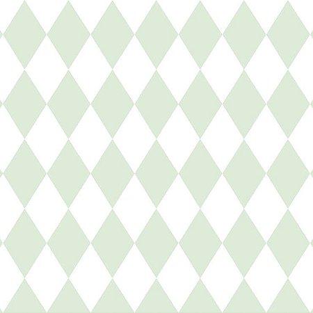 Papel de Parede Infantil Renascer Geométricos Losango verde 6241