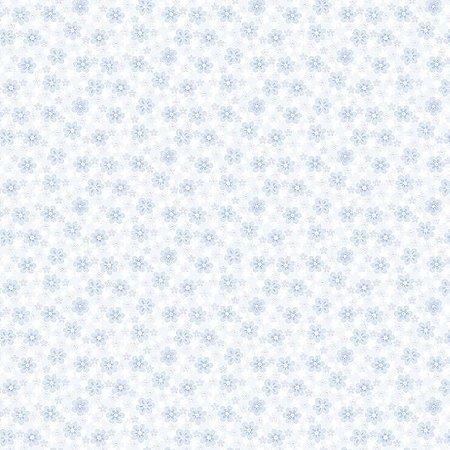 Papel de Parede Infantil Renascer Floral Florzinha Azul 6251