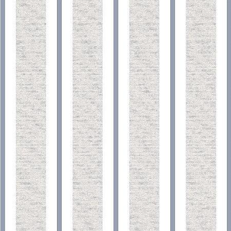 Papel de Parede Infantil Renascer Listrado Clássica Azul 6264