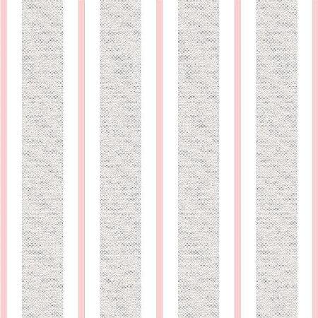 Papel de Parede Infantil Renascer Listrado Clássica Rosa 6265