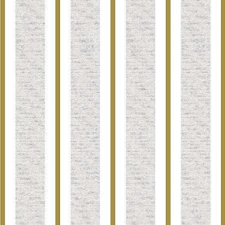 Papel de Parede Infantil Renascer Listrado Clássica Dourada 6268