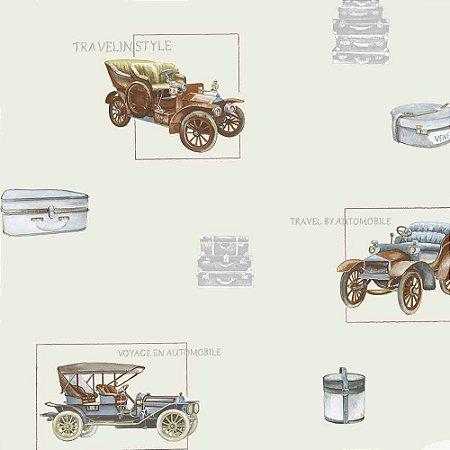 Papel de Parede Infantil Baby Charmed Carros, Caminhões, Ônibus e Trens BB220002