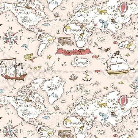 Papel de Parede Infantil Baby Charmed Mapa BB220301