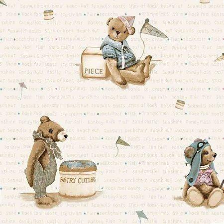 Papel de Parede Infantil Baby Charmed Ursinhos BB220702