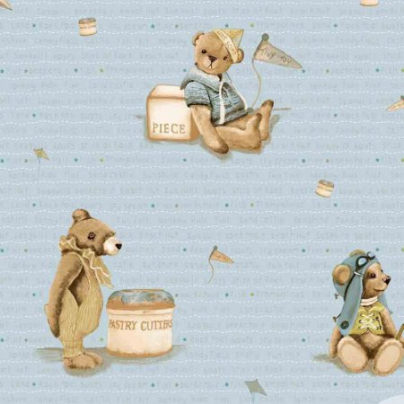 Papel de Parede Infantil Baby Charmed Ursinhos BB220703