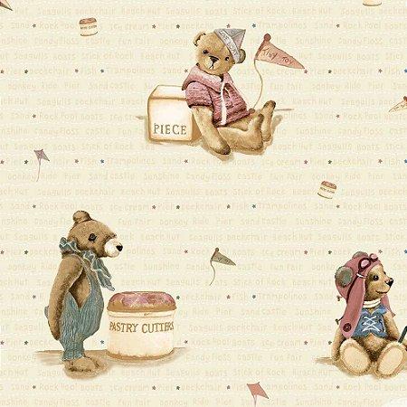 Papel de Parede Infantil Baby Charmed Ursinhos BB220705