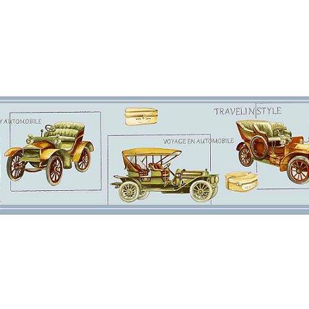 Faixas de Parede Baby Charmed Carros de Época Vintage Retrô BB220004B