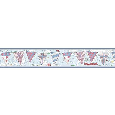 Faixas de Parede Baby Charmed Mapa Bandeiras BB220305B