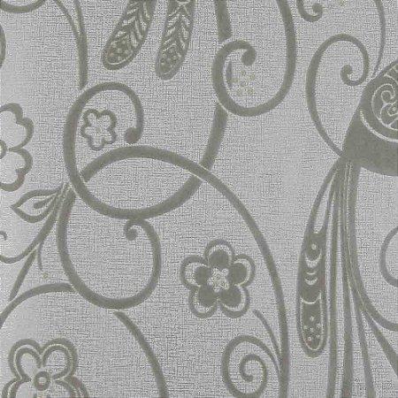 Papel de Parede Cloud Floral com Strass Aveludado ZR92201A