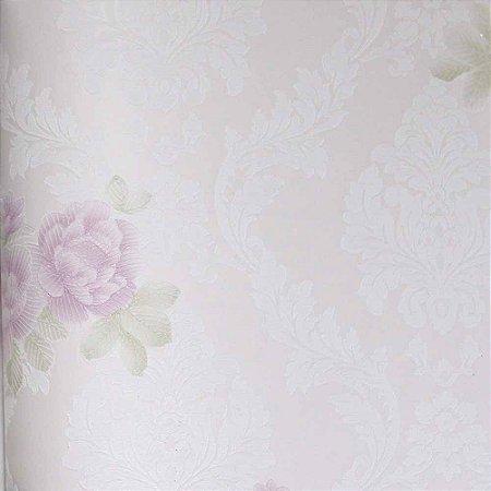Papel de Parede Grace Arabesco com Flores (Floral) GR922003