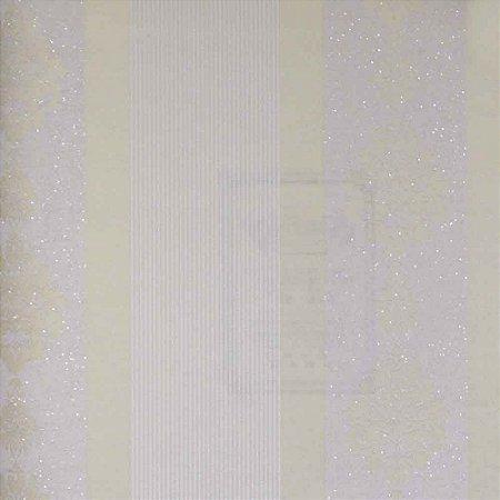 Papel de Parede Homeland Listrado com Arabesco HL55011