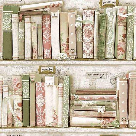 Papel de Parede Neonature 4 Temas Diversos Livros Estantes 4N853003R