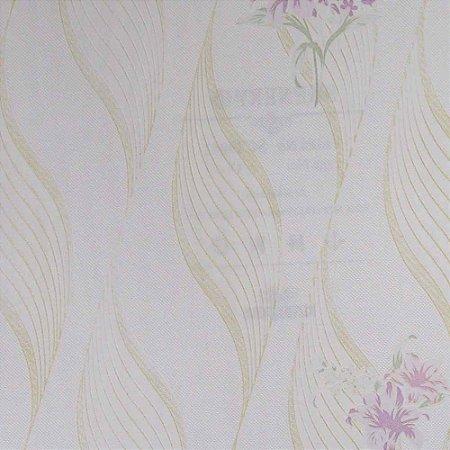 Papel de Parede Scenery 2 Geométricos com Ondas e Flores  SC29052