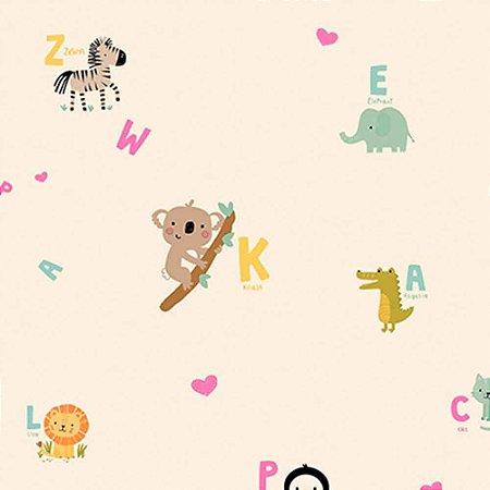Papel de Parede Infantil YOYO Letras & Números YY222502R