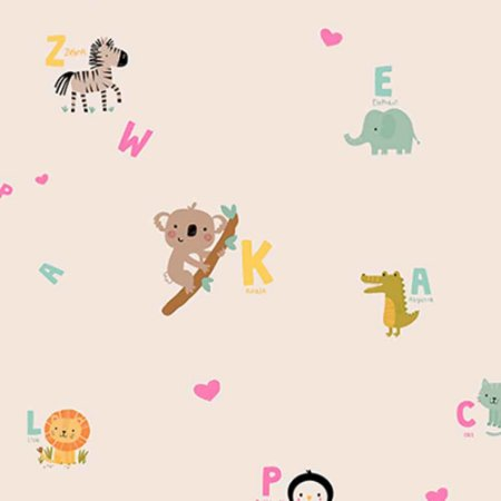 Papel de Parede Infantil YOYO Letras & Números YY222505R