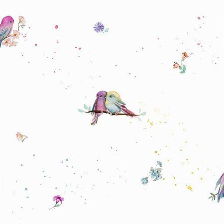 Papel de Parede Infantil Brincar Pássaros Animais 3607