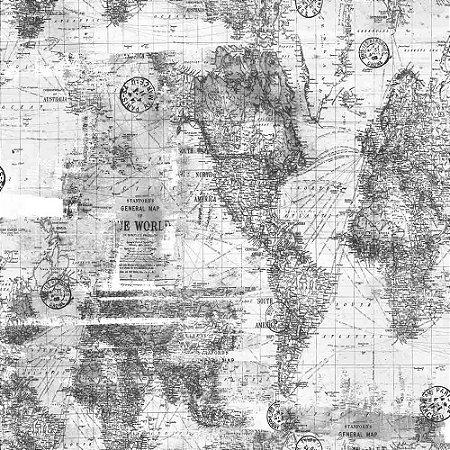 Papel de Parede Infantil Brincar Mapa 3648