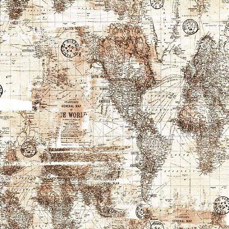Papel de Parede Infantil Brincar Mapa 3649