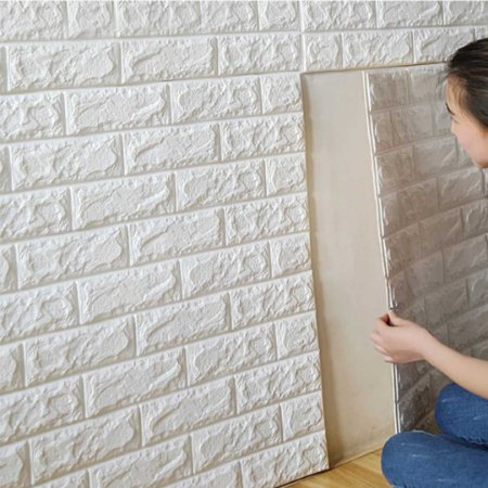 Painel 3D Tijolinho Branco