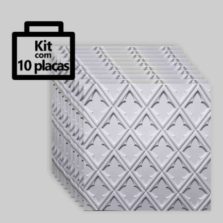 Kit com 10 unidades - Painel 3D Autoadesivo Venetto