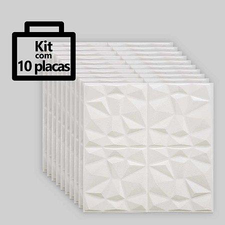 Kit com 10 unidades - Painel 3D Autoadesivo Diamante