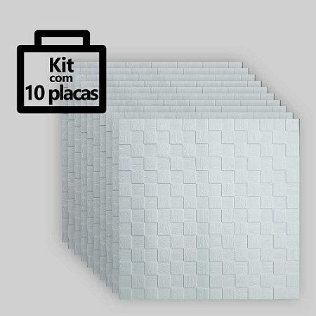Kit com 10 unidades - Painel 3D Autoadesivo Cubos